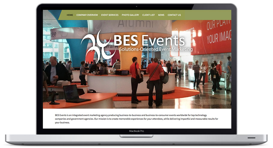 seattle web design - bes events