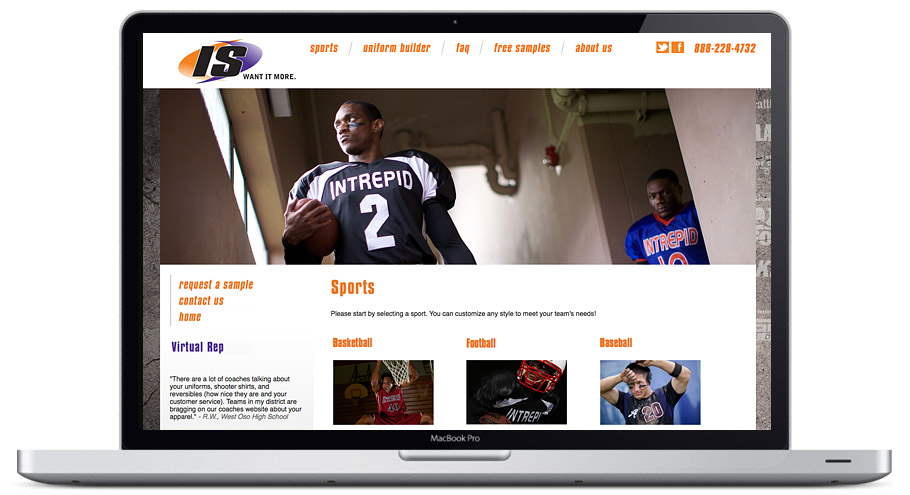 seattle web design - intrepid-sportswear