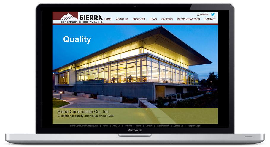 seattle web design - sierra construction