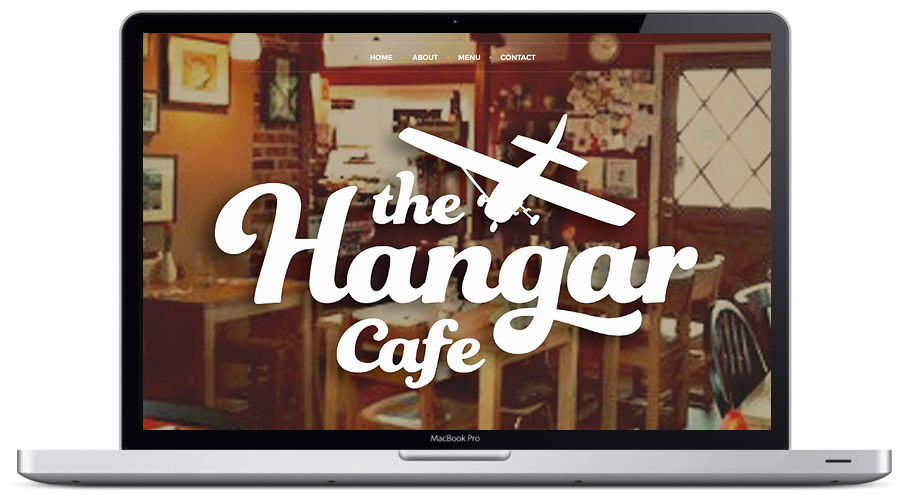 website design seattle hangar cafe