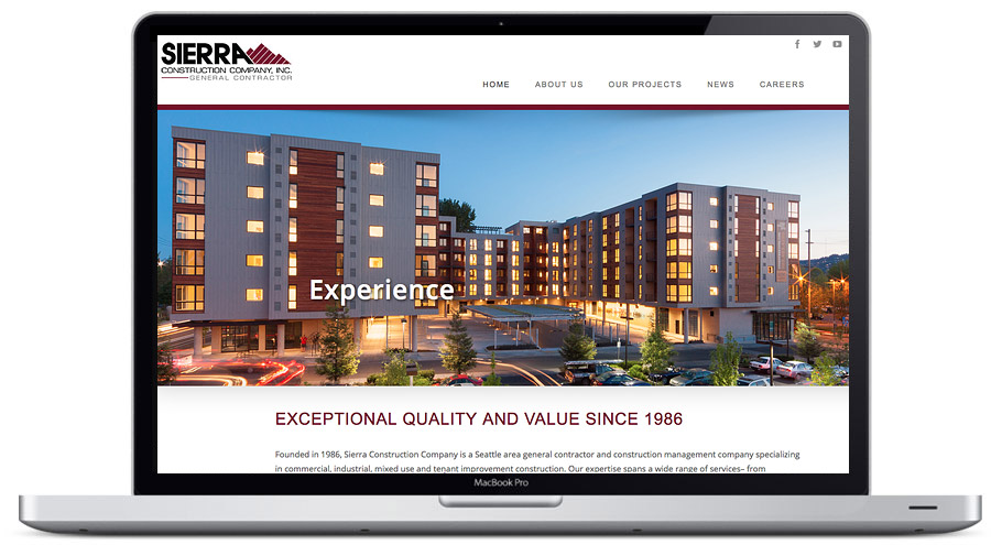 Website Design Team In Seattle Sierra Constructions Company Inc