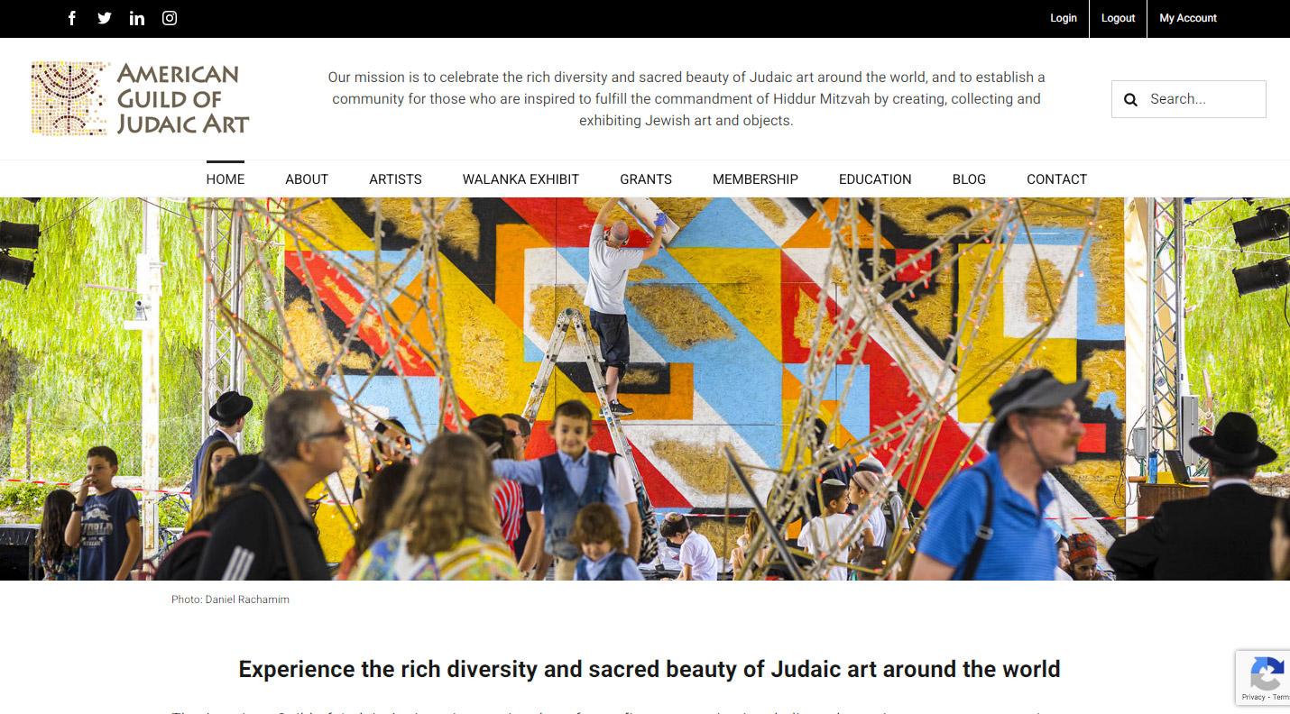 American Guild of Judaic Art Web Design