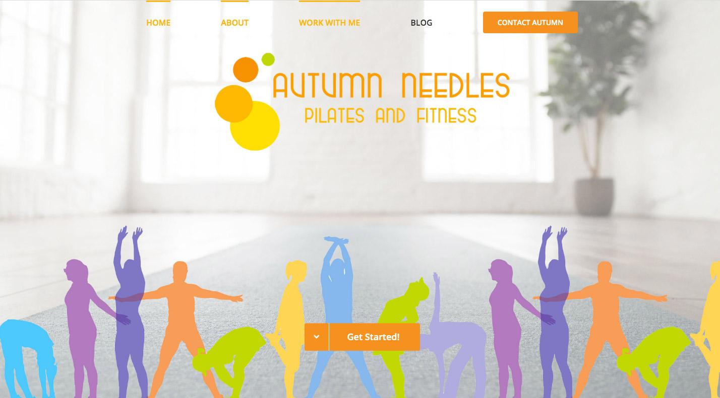 autumn needles web design