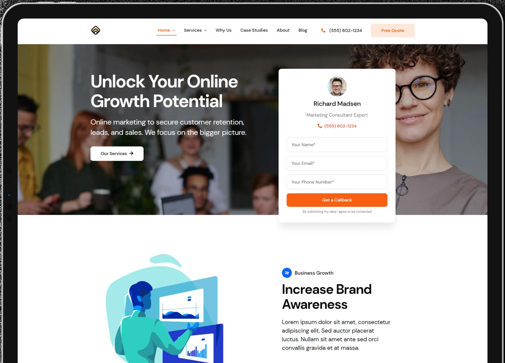 affordable web design tablet