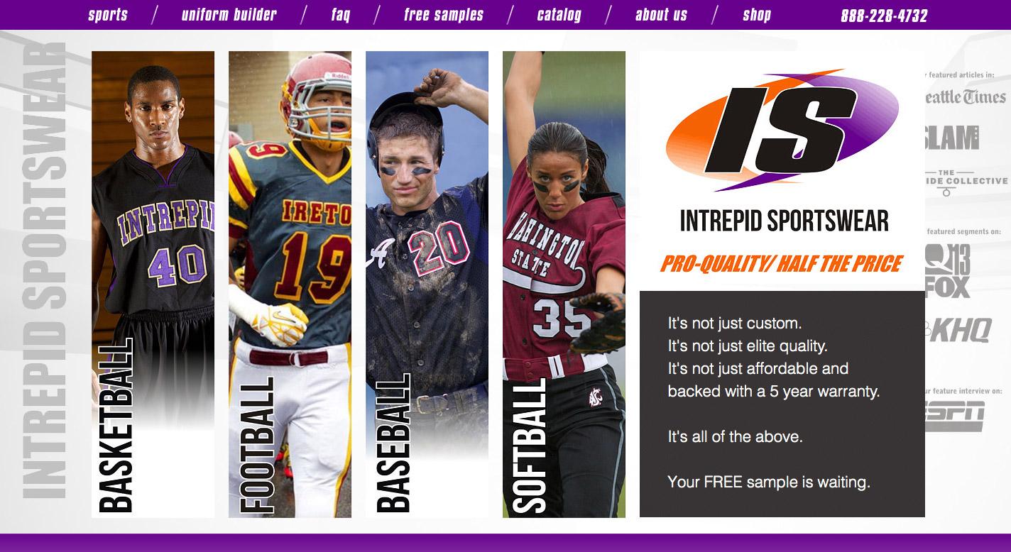 affordable web design intrepid sportswear